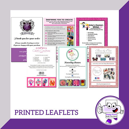 Printed Leaflets (Silk) - A5