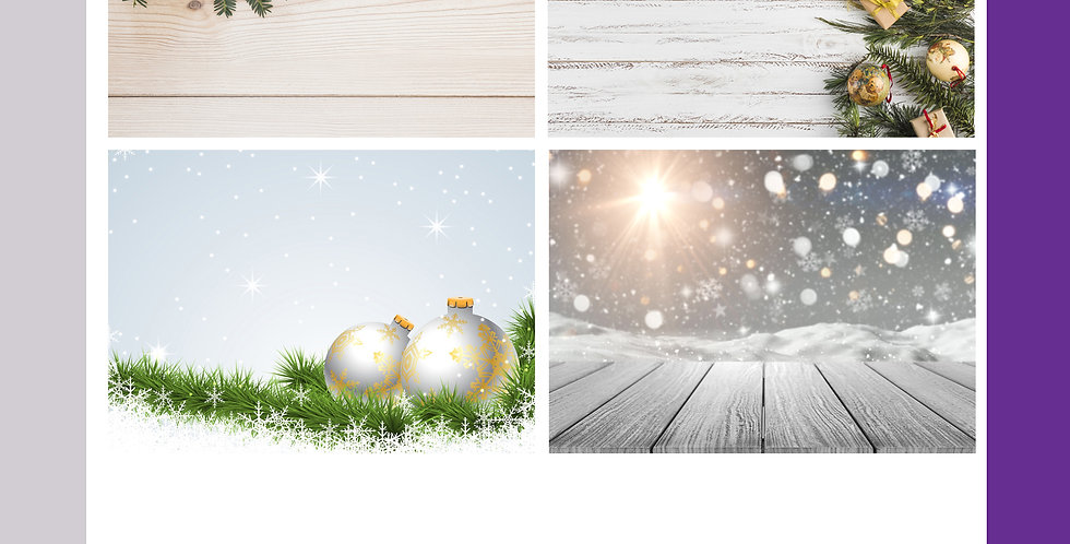A3 Christmas Background Boards - Backgrounds