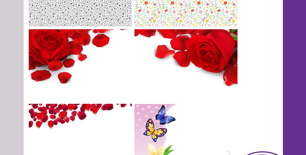 A3 Background Boards - Floral