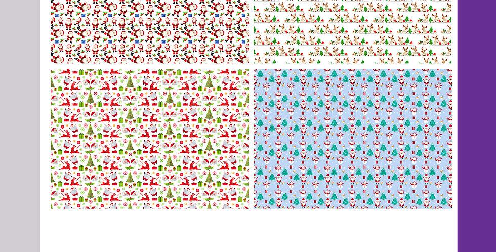 Christmas Wrapping Sheets - Santa