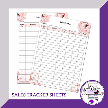 Sales Tracker Sheets