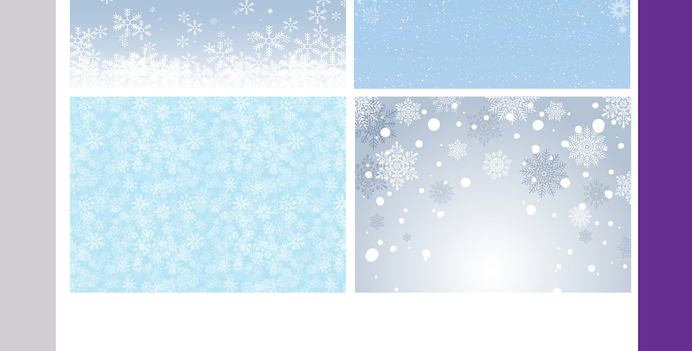 A3 Christmas Background Boards - Snowflakes