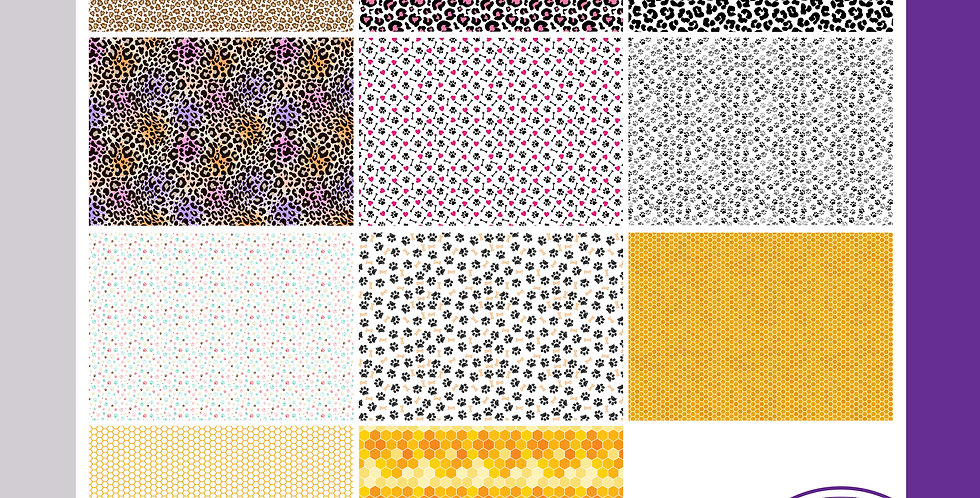 A3 Background Boards - Animal Prints