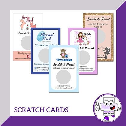 Scratch Cards - 300gsm Brown Kraft