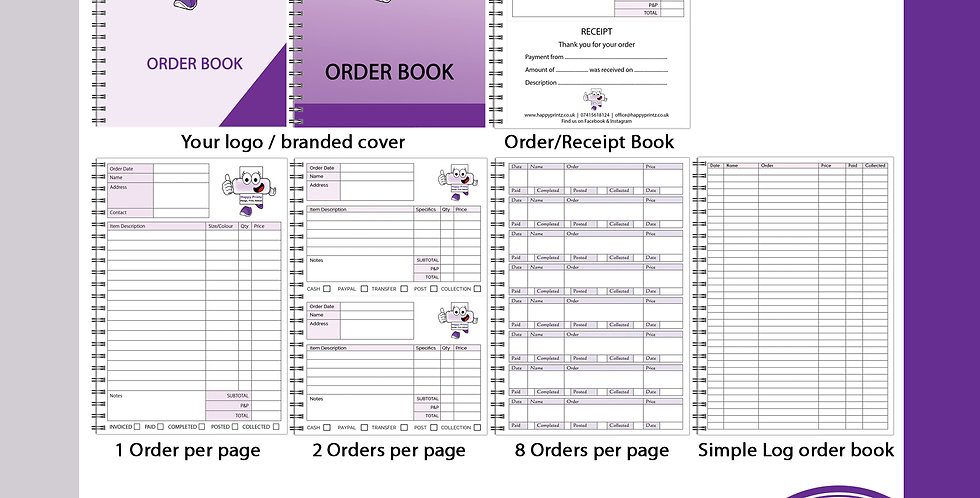 A5 Business Order Book