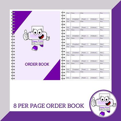 Order Book - 8 per page