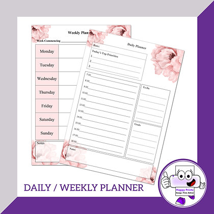Daily & Weekly Planner Sheets
