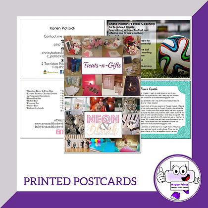 Printed Postcards - 350gsm Matte
