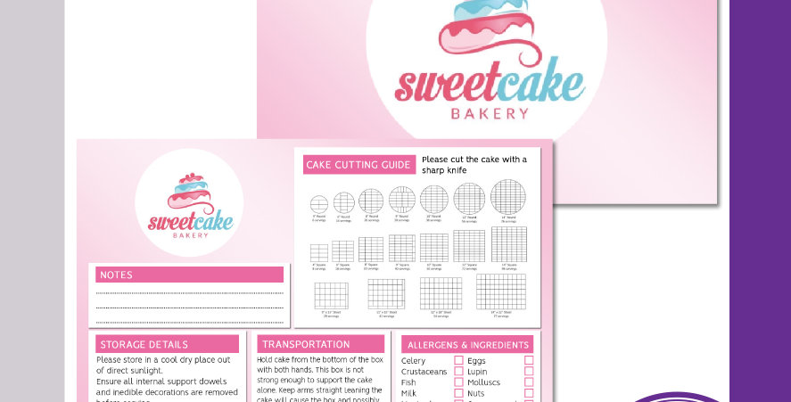 Cake Cutting Information Cards