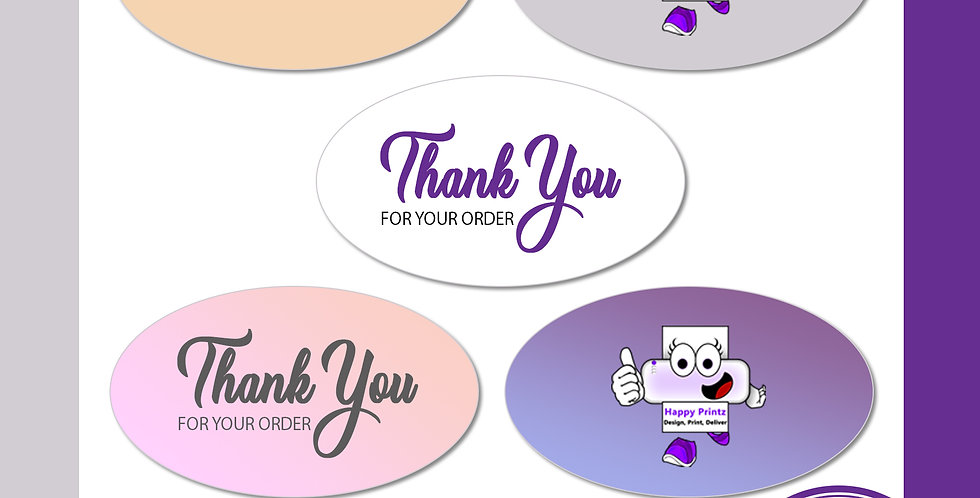Transparent Stickers (Oval)