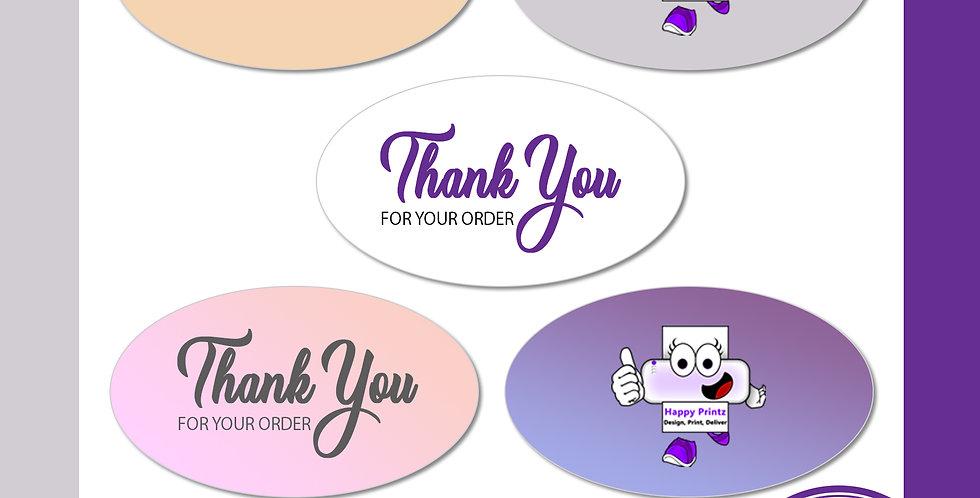 Waterproof Stickers (Oval)