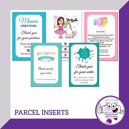 Parcel Inserts / Thank You Cards - 350gsm Silk