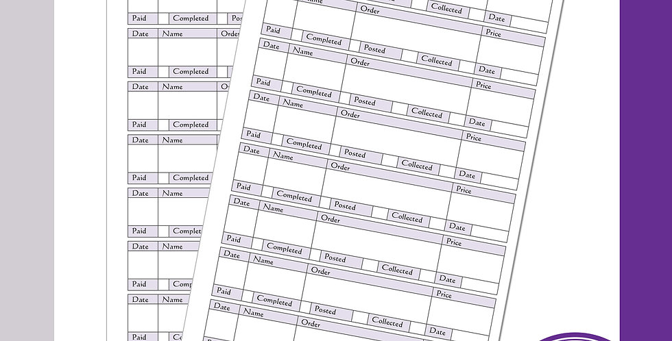 Order Sheets - 8 per page