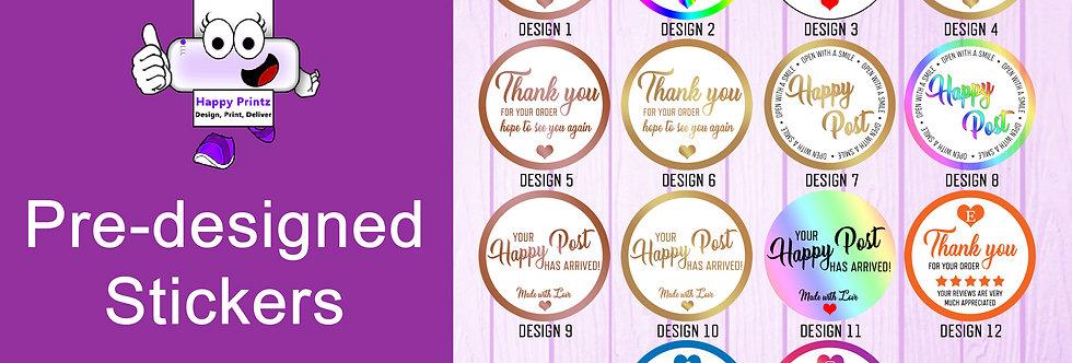 Pre-designed Stickers