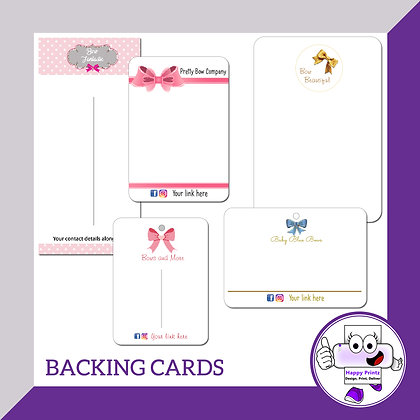 Bow / Backing / Display Cards - A6