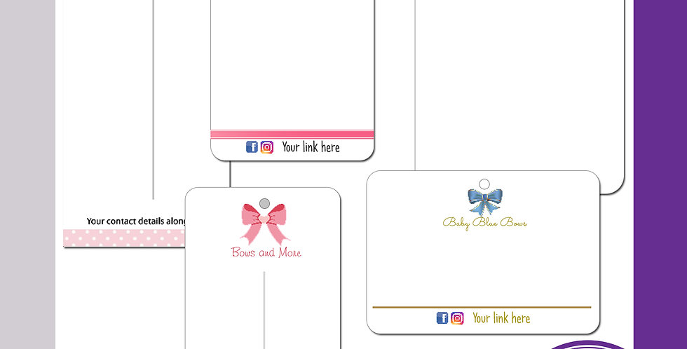Bow / Backing / Display Cards - A7