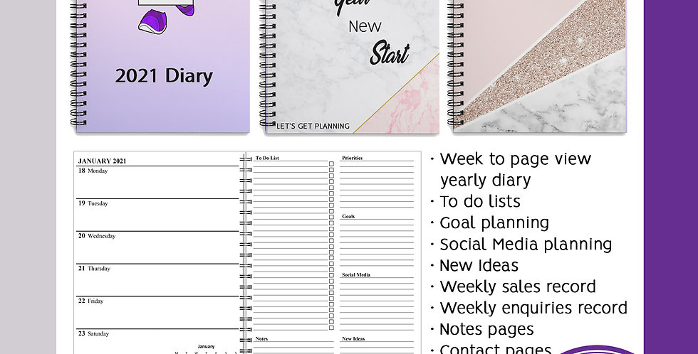A5 Yearly Diary Planner