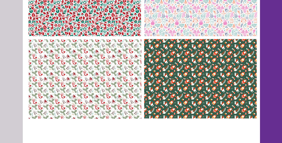 Christmas Wrapping Sheets - Patterns
