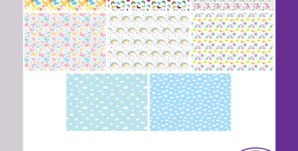 A3 Background Boards - Butterfly/Rainbow
