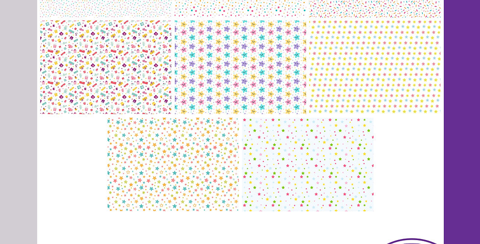 Wrapping Sheets - Spots/Stars