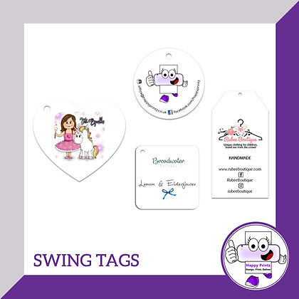 Swing Tags - Different Shapes