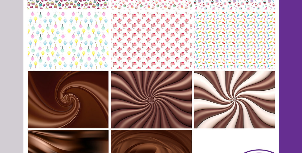 A3 Background Boards - Cakes Sweets