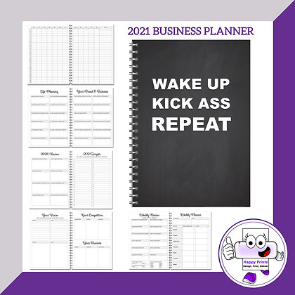 2021 Business Planner - Greyscale