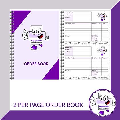 Order Book - 2 per page