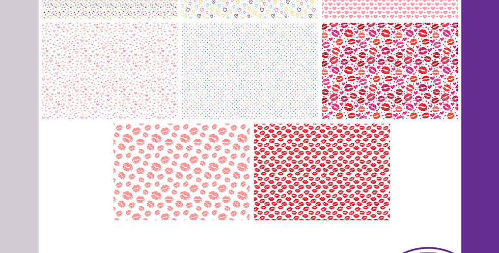 Wrapping Sheets - Hearts/Kisses