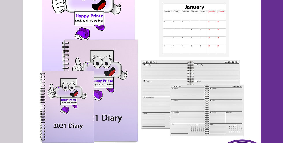 A4 Yearly Diary