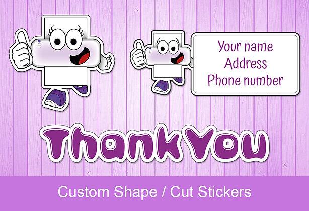 Custom cut stickers - Clear / Transparent