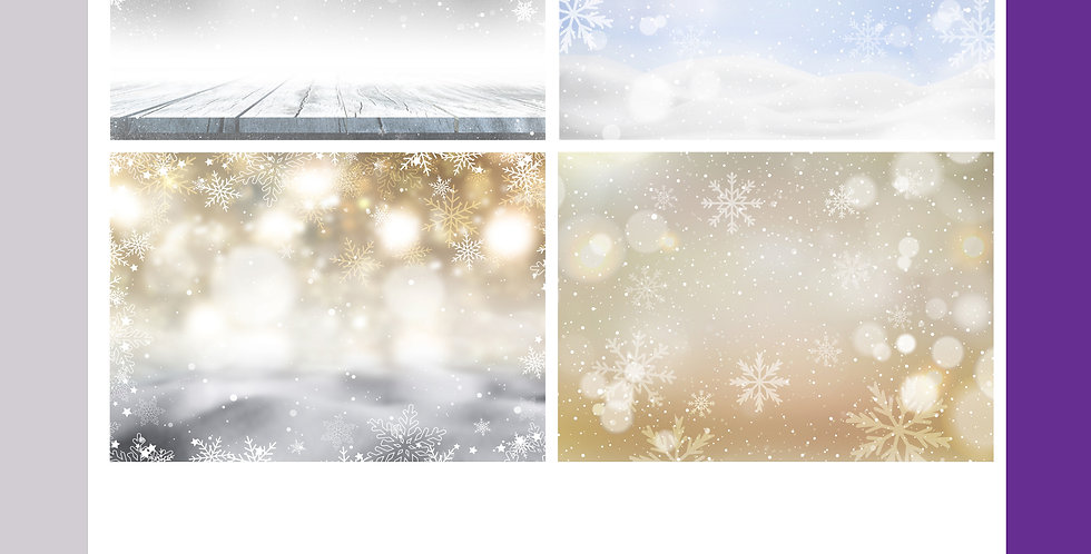A3 Christmas Background Boards - Scenery