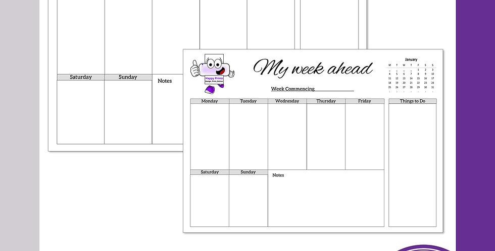 Desktop Planner Pads