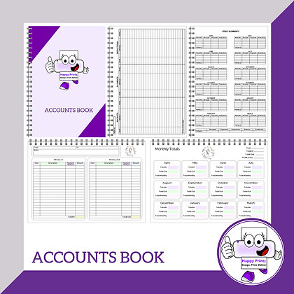 A5 Personalised Accounts Book