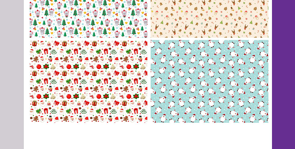 Christmas Wrapping Sheets - Cute