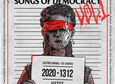Selos unem 10 bandas do Brasil e Europa para lançamento de coletâneaSongs of Democracy VOL I