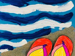 Slippers op het strand