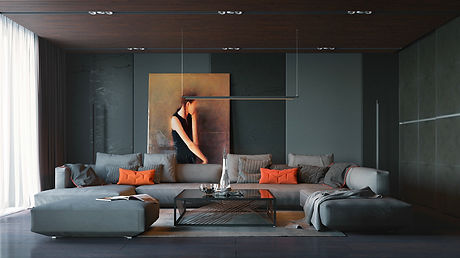 orange-and-black-interior-artwork-ideas.