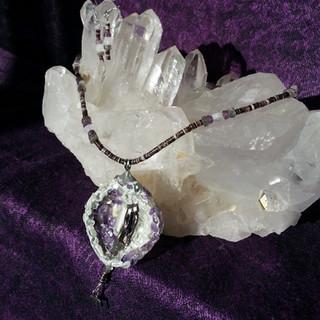 Chai Lovers, pearl, shell, amethyst, quartz