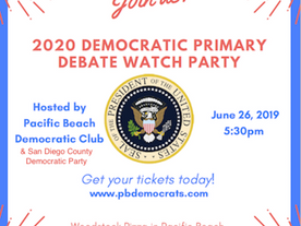 2020 Democratic Primary Debate Watch Party!