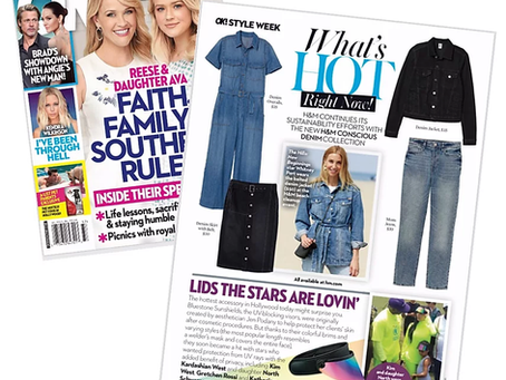 LIDS THE STARS ARE LOVIN' KIM KARDASHIAN FEATURED IN OK! MAGAZINE WEARING BLUESTONE SUNSHIELDS