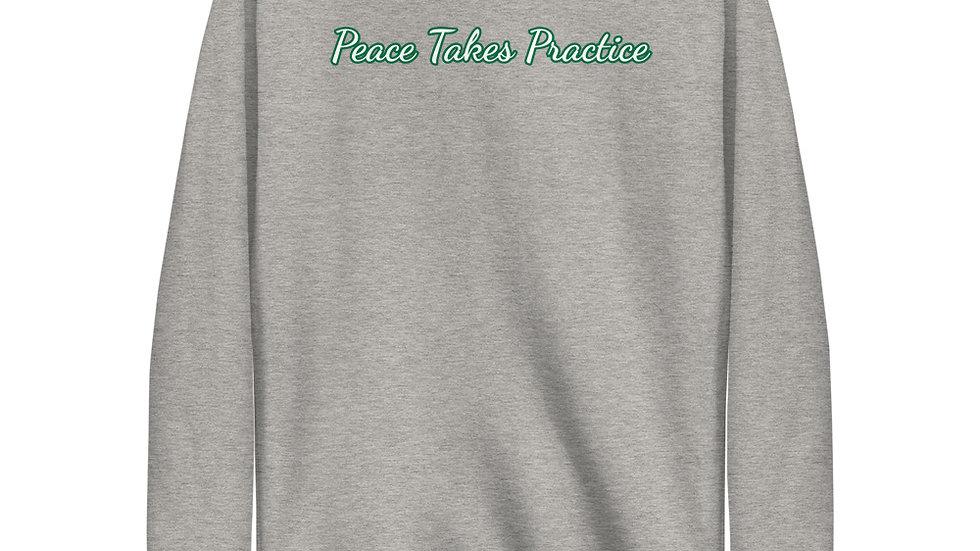Unisex 'Peace Takes Practice' Fleece Pullover
