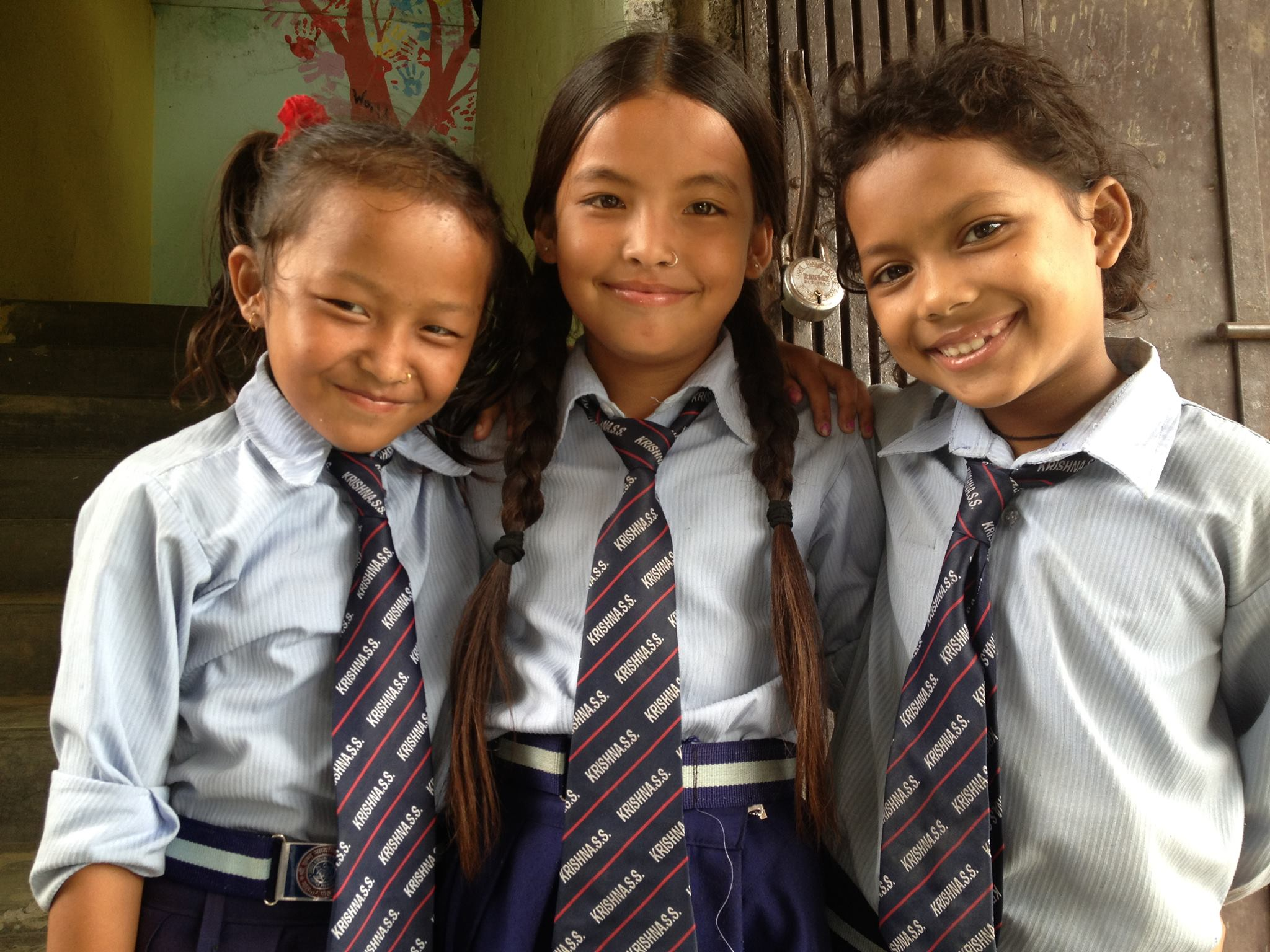 Students in Pokhara, Nepal