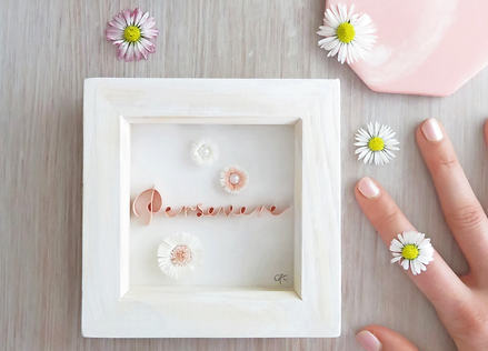 Bespoke Framed Mini Quilled Paper Word