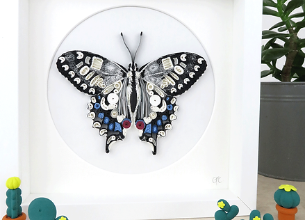 Bespoke Framed Quilled Paper Butterfly