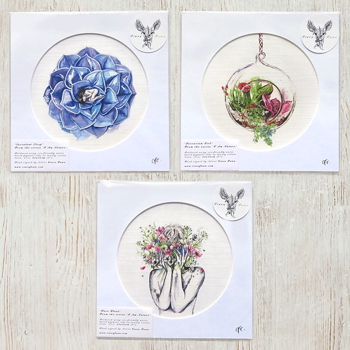 'I Am Nature' Cotton Linen Prints