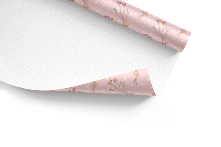 Quilled balloons wrapping paper mockup.j