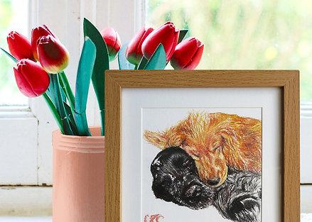 Bespoke Oil Pastel Pet Portrait