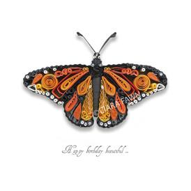 Ciara Fawn 'Paper world' range - monarch