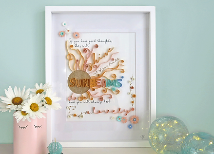 Bespoke Framed Quilled Paper Lettering/Quote